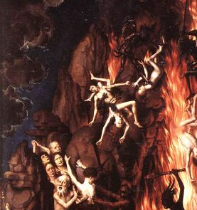 Our Lady showed the three children a Vision of Hell where the souls of sinners go.